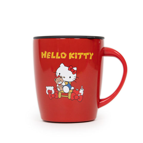 Hello Kitty Classic Red Stainless Steel Mug