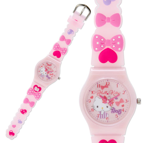 Hello Kitty Ribbon Rubber Kids Wristwatch