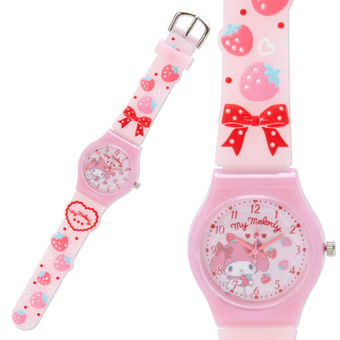 My Melody Strawberry Rubber Kids Wristwatch