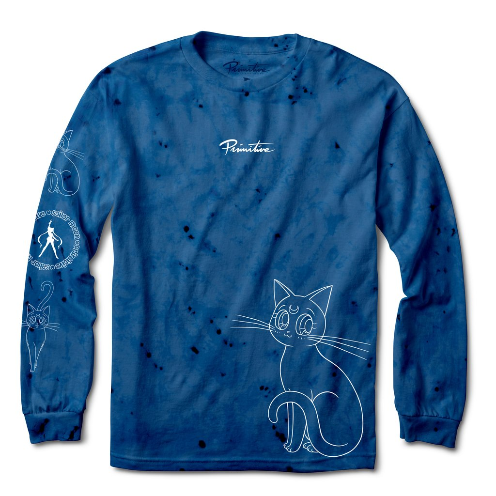 Primitive x Sailor Moon Guardian Washed Blue Long Sleeve