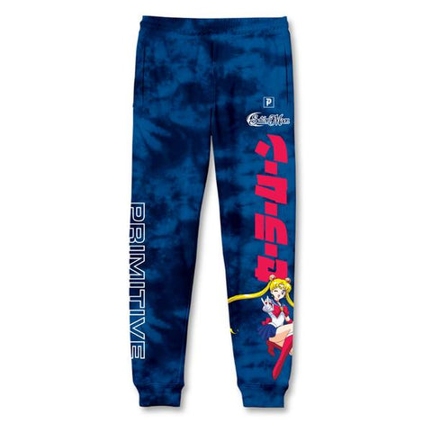 Primitive x Sailor Moon Blue Washed Sweatpants