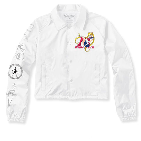 Primitive x Sailor Moon White Crop Jacket