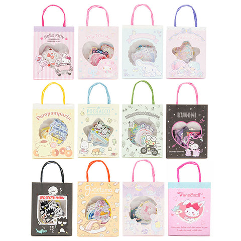 Sanrio Character Sticker Flakes in Mini Shopping Bag