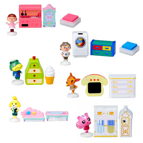 Animal Crossing Mini Figure and Furniture Stamp Set
