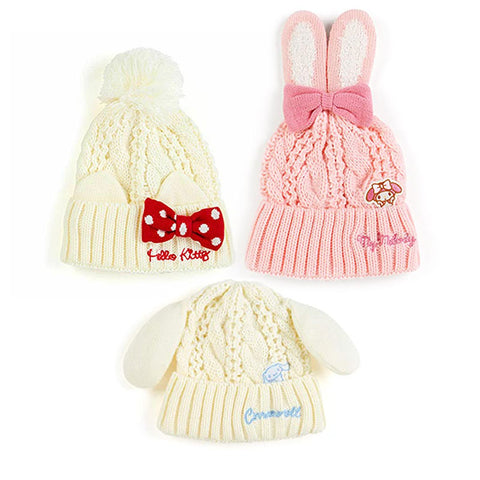 Sanrio Character Kids Knit Beanie with Ears