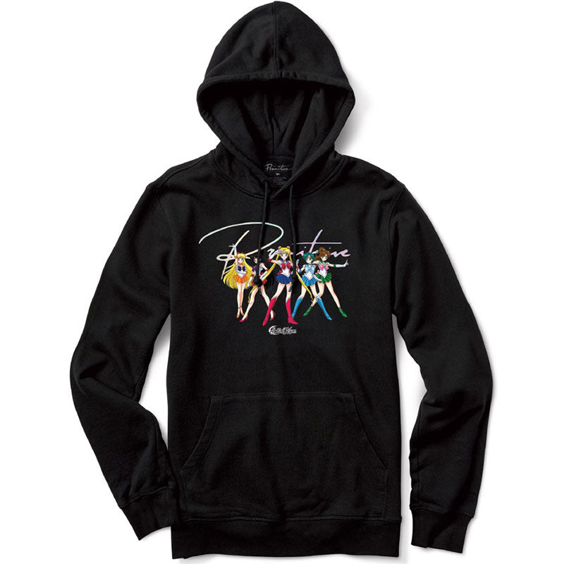 Primitive x Sailor Moon Ginza Scouts Black Hoodie