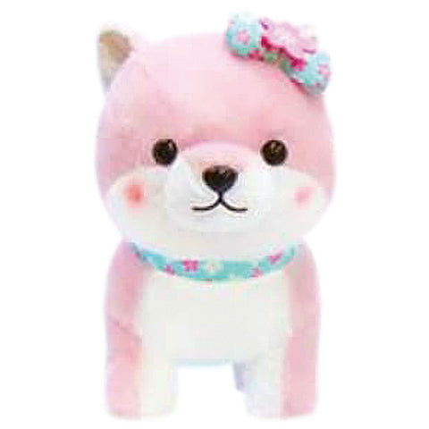 Mameshiba Sakura Blue Bow Large Plush