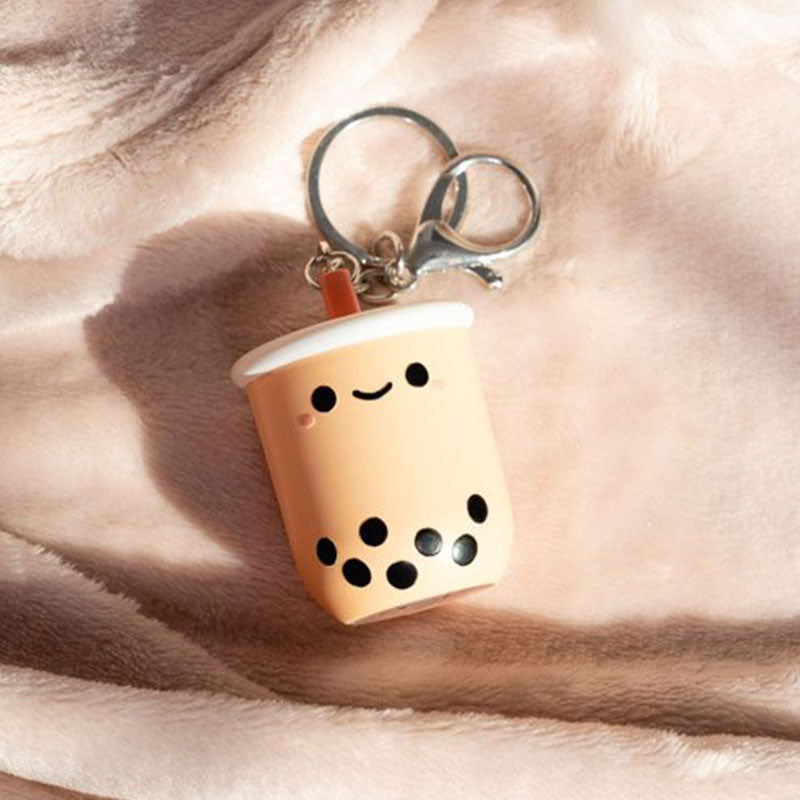 Pearl Boba Tea Light Up Keychain