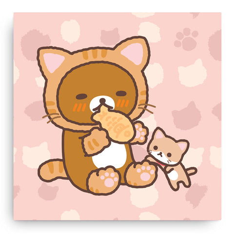 Rilakkuma Cat Canvas Art Print