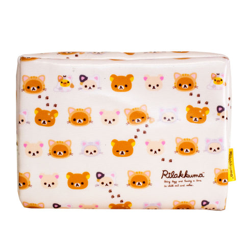 Rilakkuma Tiger White Zipper Pouch