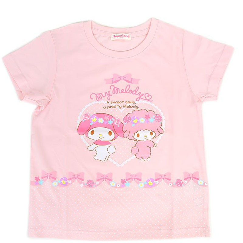 My Melody Pink Flowers Kid's Tee
