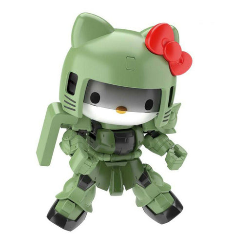 Gundam x Hello Kitty Green SDCS Zaku II Model Kit