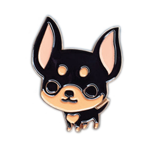 Black and Tan Chihuahua Enamel Pin