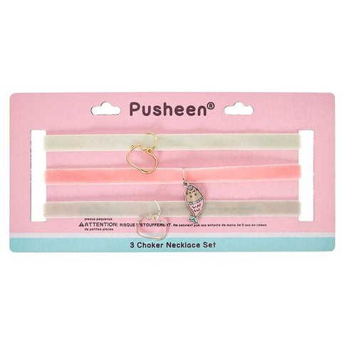 Pusheen 3-Pack Choker Set