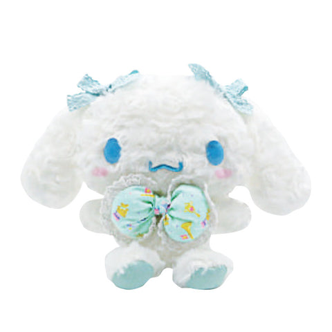 "Cinnamoroll Mint Bow Fuzzy 6"" Plush"