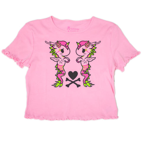 Dragon Fruit Pink Cropped Tee