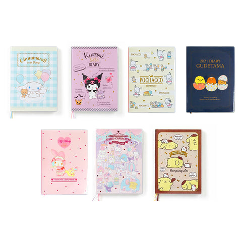 Sanrio Characters 2021 B6 Frame Diary