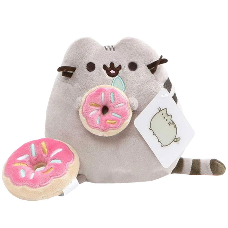 Pusheen Donut Plush with Donut Charm