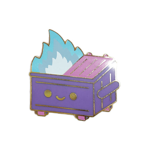 Dumpster Fire Blue Flame Pin
