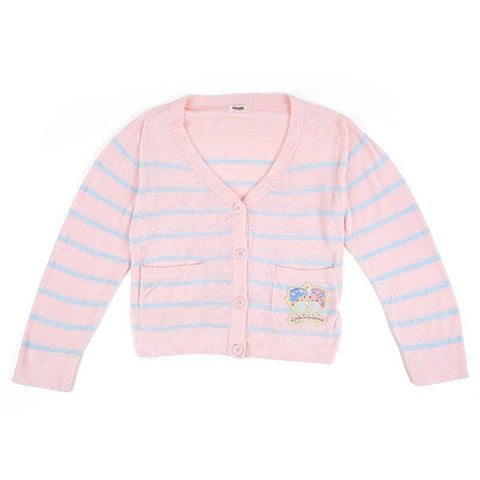 Little Twin Stars Fuzzy Stripe Cardigan
