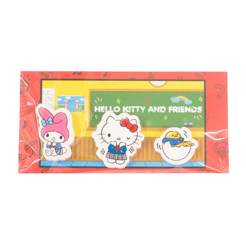 Sanrio School Day Eraser Set