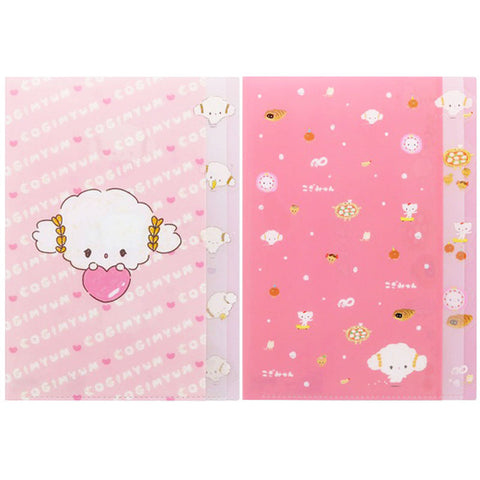 Cogimyun Pink 5 Pocket File Folder