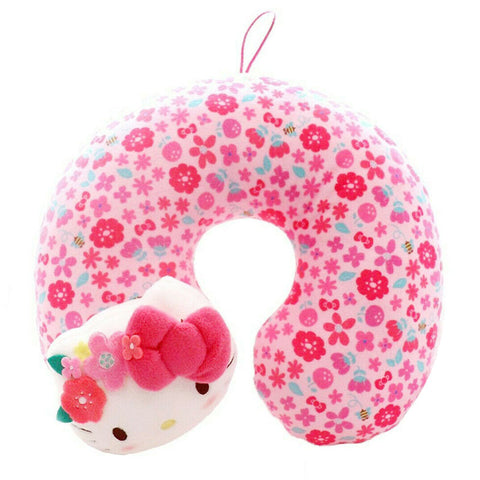 Hello Kitty Flower Crown Kid's Neck Pillow