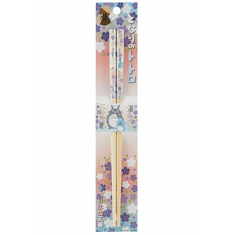 Totoro Purple Flowers Bamboo Chopsticks