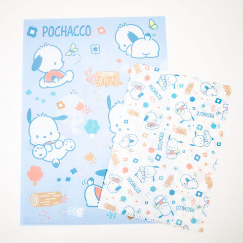 Pochacco Blue Spring Day File Folder Set