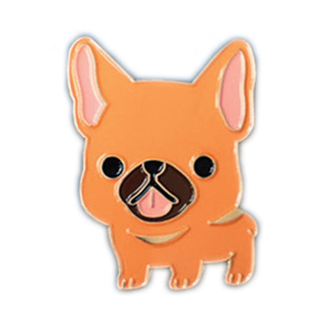 Brown and Tan Frenchie Enamel Pin