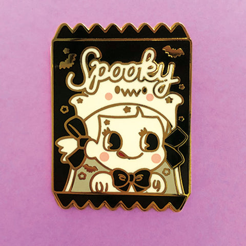 Spooky Ghost Girl Candy Bag Pin