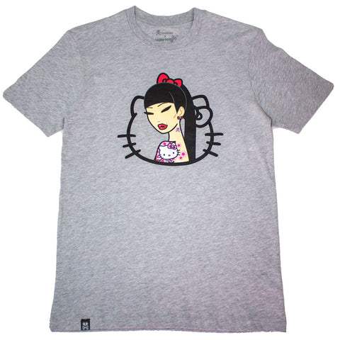 Hello Tattoo Light Heather Grey Tee