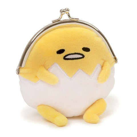 Gudetama Plush Kisslock Coin Purse