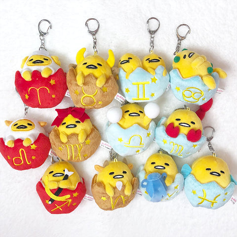 Gudetama Astrology Plush Keychain