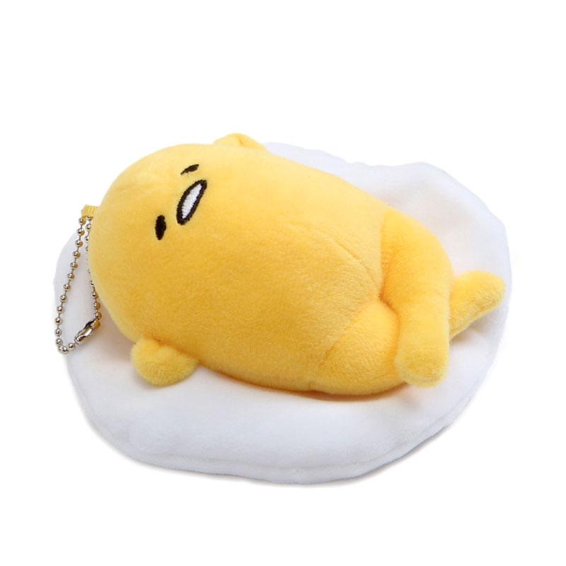 Gudetama Laying Face Up Keychain Plush