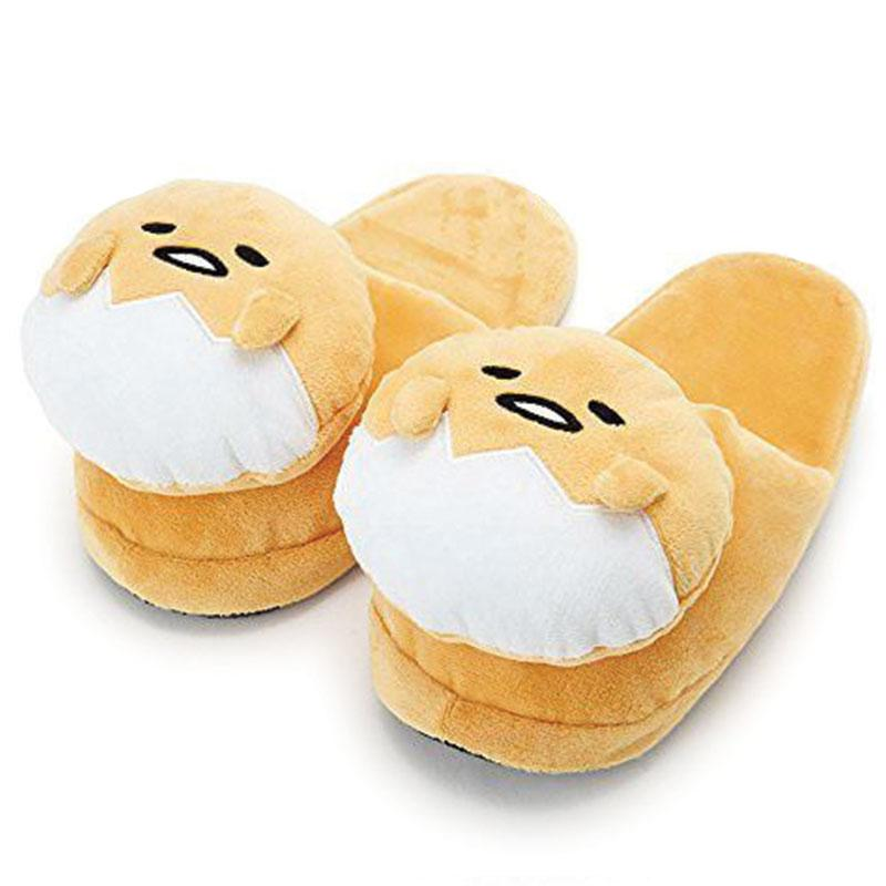 Gudetama Plush Head Slippers