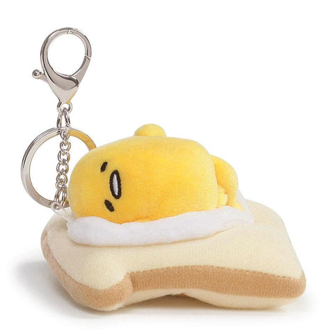 Gudetama On Toast Plush Keychain