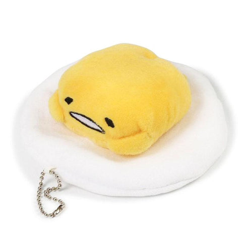 Gudetama Talking Plush Keychain