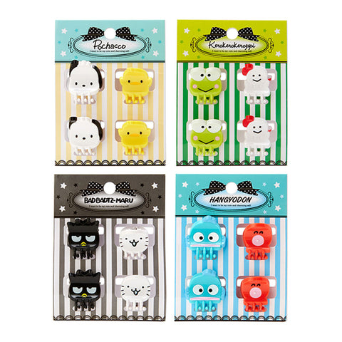Sanrio Character 4 Pack Die Cut Mini Hair Clips