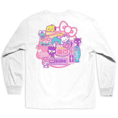 Girl x Sanrio White Long Sleeve Tee