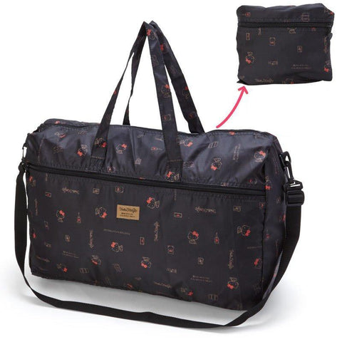 Hello Kitty Large Black Folding Overnight Bag