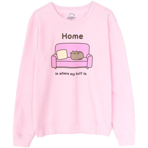 Pusheen Home is Where My Butt Is Men's Sweatshirt