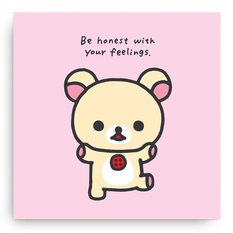 Korilakkuma Honest Feelings Canvas Art Print