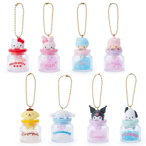 Sanrio Character Incense Ball Jar Keychain