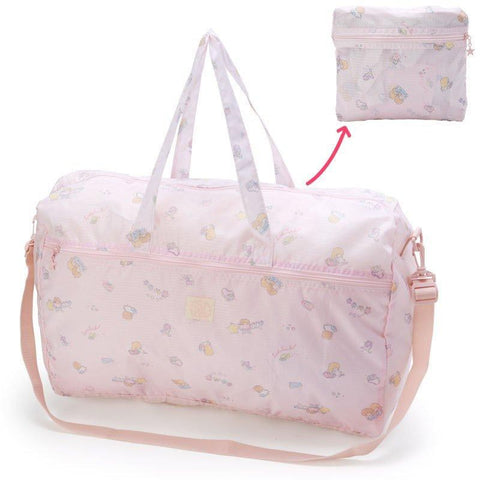 Little Twin Stars Large Pink Folding Overnight Bag