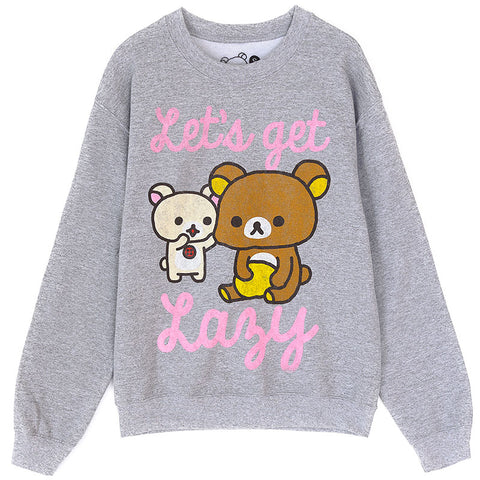 Rilakkuma Let's Get Lazy Grey Sweatshirt