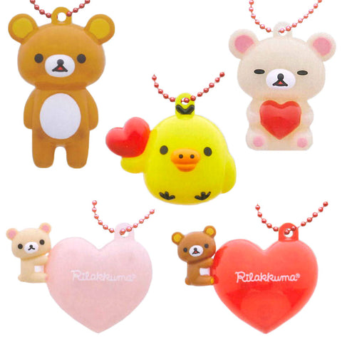 Rilakkuma Heart Light Capsule Keychains