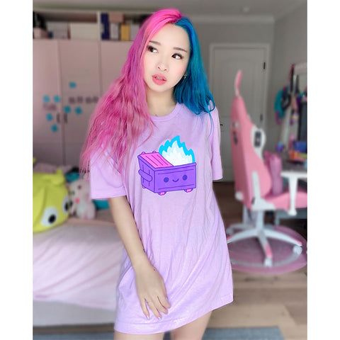 Magical Dumpster Fire Lilac Tee