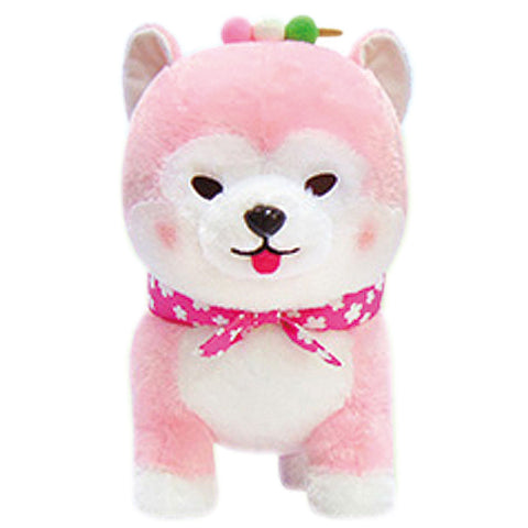 Mameshiba Sakura Pink Scarf Dango Large Plush