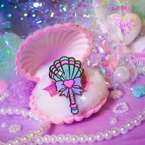 Magical Mermaid Wand Pin